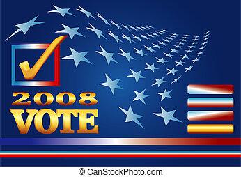2008, választás, háló, transzparens