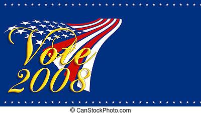 2008, voto, bandeira