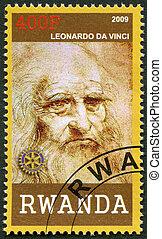 2009:, (1452-1519), vinci, -, da, ruanda, retrato, leonardo...