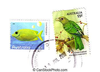 2009:, australia, tłoczyć, circa, fish, -, opisywanie, odwołany, australijski, pocztowy, ptak
