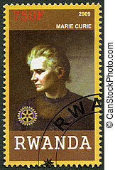 2009:, rwanda, キュリー, (1867-1934), マリー, -, 肖像画, ショー