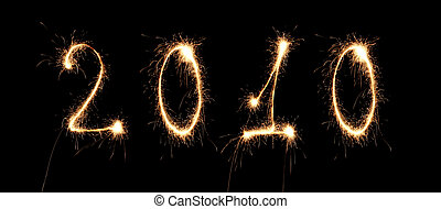 2010, újév, szám, gyémánt, kollázs