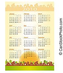 2010 Calendar - Real estate, architecture, construction company
