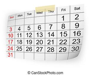2010, calendario, enero