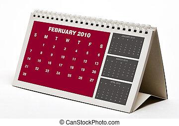 2010, fevereiro, calander.