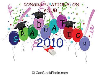 2010, graduación, plano de fondo