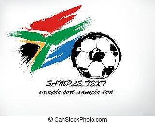 2010, mondiale, afrique sud, symbole, tasse