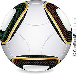 2010, palla, jabulani, tazza, calcio, vettore, mondo