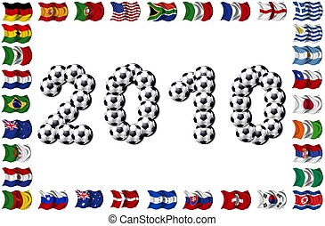 2010 - Soccer and Nation Flags