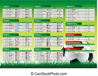 2010 South Africa Schedule - Schedule of matches 2010 FIFA...