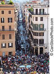 2010, spagna, 人々, ∥ディ∥, バチカン, ローマ, 広場, -, ローマ, 4:, 8月, 都市, italy., 4