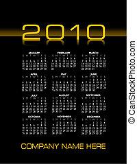 2010 stylish calendar