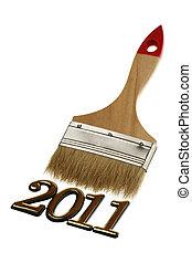 2011, αριθμόs , βούρτσα