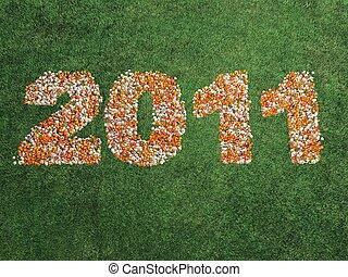 2011, 中に, 花, 上に, 草