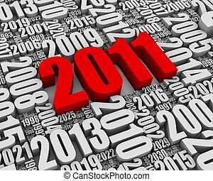 2011, anuncio, año