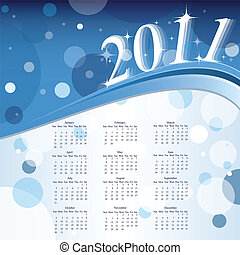 Calendar of 2011 year with abstract background. Vector illustration