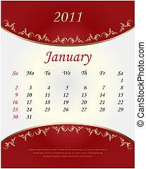 2011 Calendar - January
