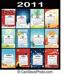 2011, calendario