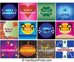 2011 Decorative themed Calendars