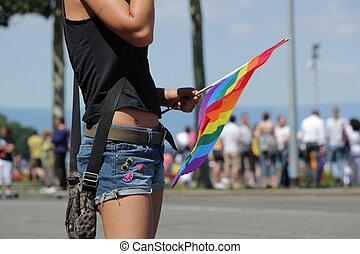 2011, femme, gay, genève, suisse, fierté