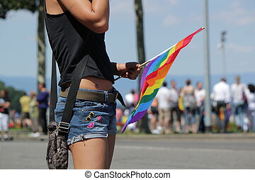 2011, frau, gay, genf, schweiz, stolz