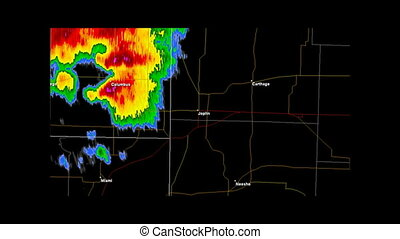 2011 Joplin, Missouri Tornado - Time Lapse Doppler Radar...