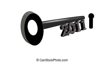 2011 Key to the Future! - 2011 Black Key on white background...