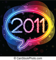 2011 Lights Speech Bubble