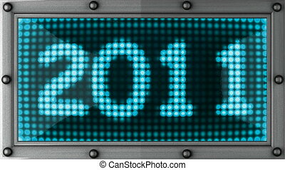 2011  announcement on the LED display
