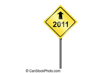 2011., traffico, segno freccia