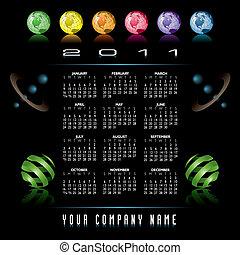 2011 vector calendar