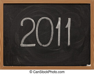 2011 - white chalk on blackboard