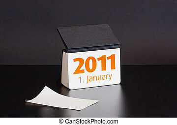 2011 year calendar first january black notebook 2011 year