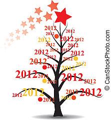 2012, árvore, xmas, ano