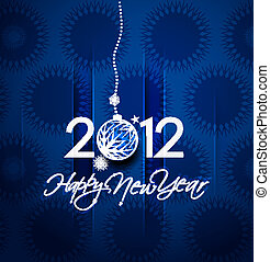 2012, år, färsk, affisch