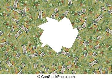 2012, カナダ, ドル, vimy, 記念, カナダ, 20, 重合体, 紙幣, パターン, 国民
