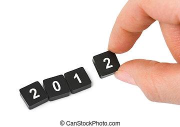 2012, 数, 手