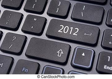 2012, 新しい, 概念, 年, キーボード