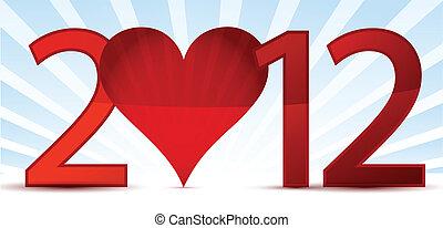 2012, 新年快樂, 賀卡