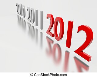 2012, 新年
