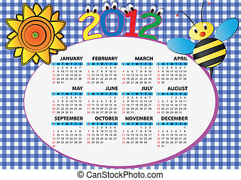 2012, 蜂, そして, ひまわり