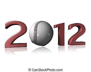 2012 baseball design on a white background