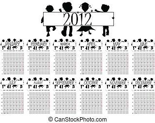 2012 calendar with children