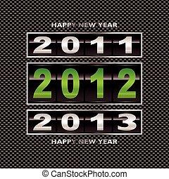 2012, carbonio, fibra, verde