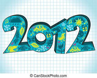 2012, cartolina auguri