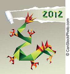 2012 Chinese origami dragon