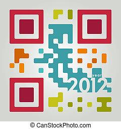 2012, codice, qr