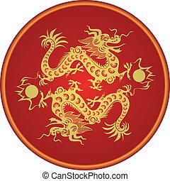 2012., dragon, zodiaque, chinois, année