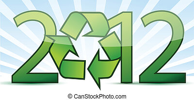2012 ecology recycle concept