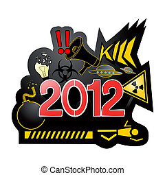2012, end world - Creative design of end world message